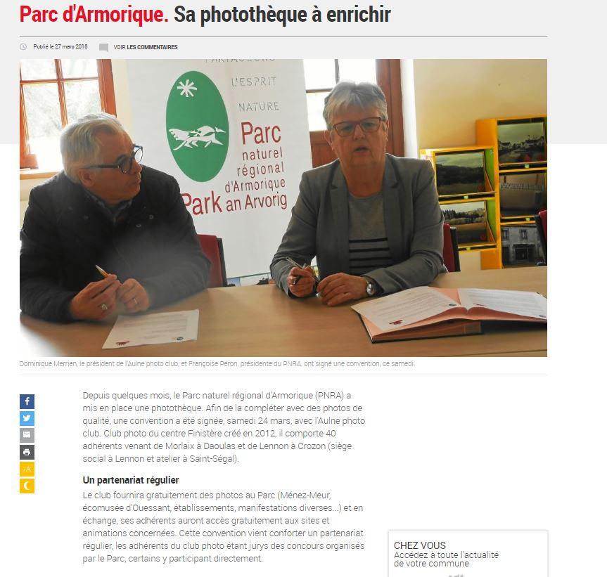 l'Aulne photo-club partenaire officiel du Parc Naturel Régional d'Armorique